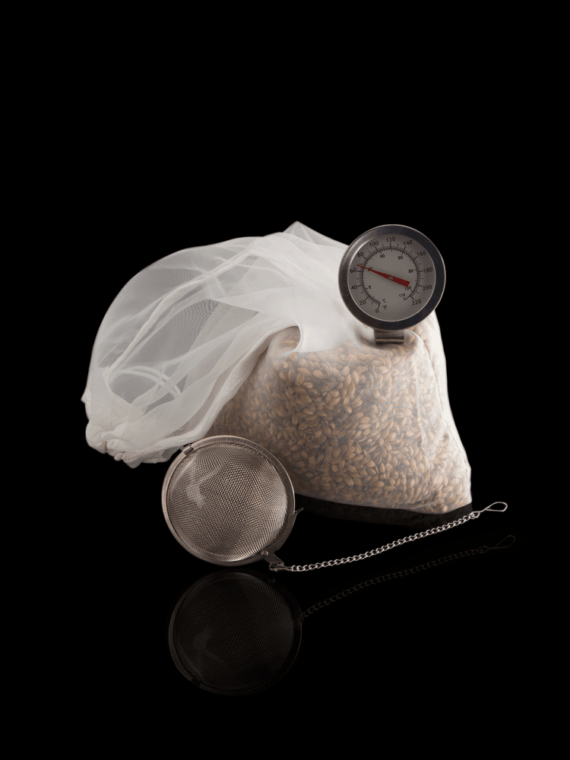Small Batch Brew - Hop Bomb, Grain Bag and Dial Thermometer