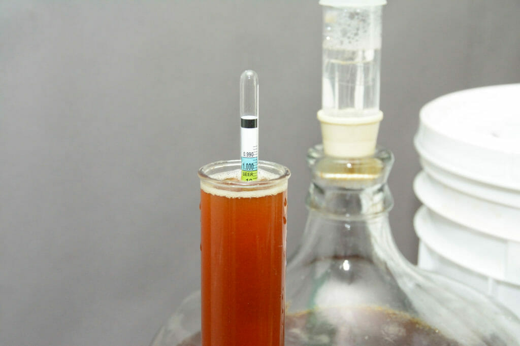 Hydrometer, Carboy, Airlock and Test Tube