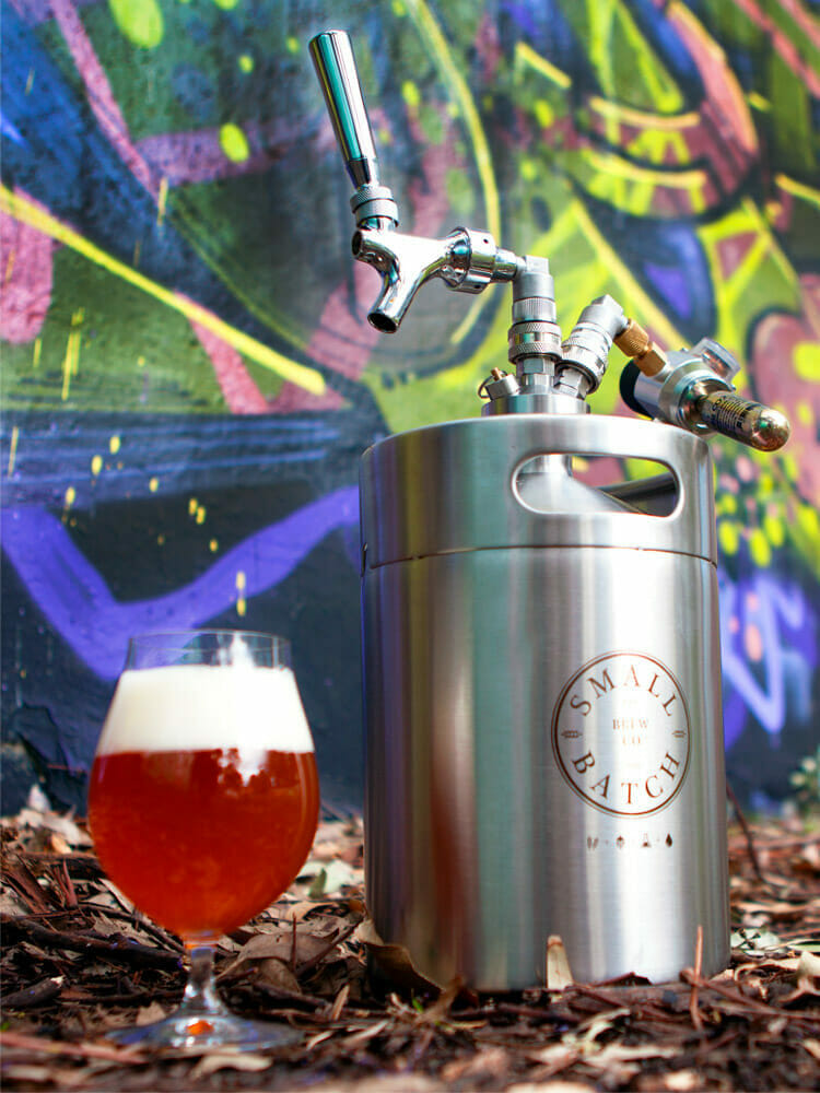 Small Batch Brew = Stainless Steel Mini Keg