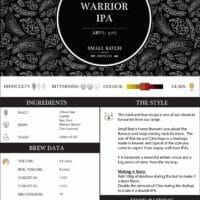 Small Batch Brew - Recipe Card - Citra Warrior IPA