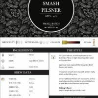 Small Batch Brew Recipe Card Splat and Smash Pilsner