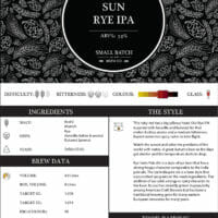 Small Batch Brew - Recipe Card - Red Hole Sun Rye IPA